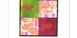 Posh Floral Flourish Quad Card